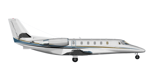 Side profile of Cessna 560XL Citation Excel aircraft