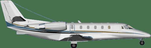 Side profile of Cessna 560 Citation V aircraft