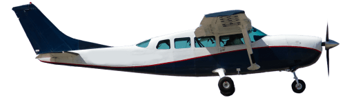 Side profile of Cessna 206 Stationair aircraft