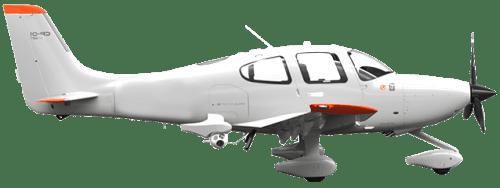 Side profile of Cirrus SR22 T SR22 aircraft