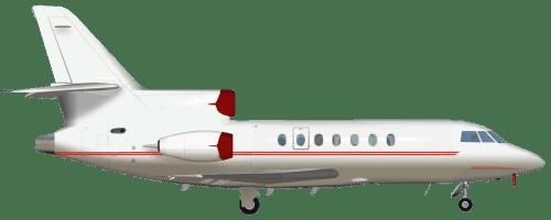 Side profile of Dassault 50EX Falcon 50 aircraft