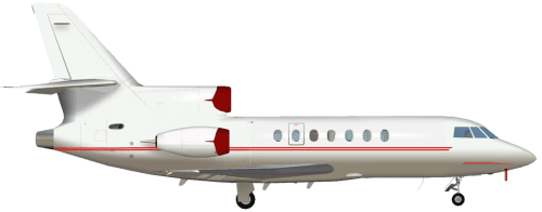 Side profile of Dassault FALCON 50 Falcon 50 aircraft