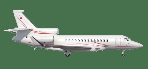 Side profile of Dassault 7X Falcon 7X aircraft