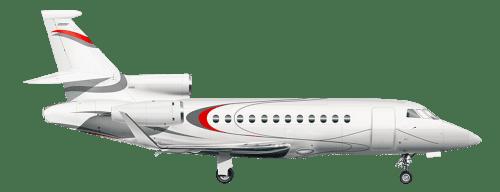 Side profile of Dassault MYSTERE FALCON 900 Falcon 900 aircraft