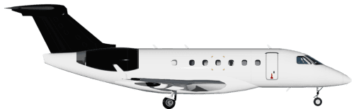 Side profile of Embraer 500 Phenom 100 aircraft