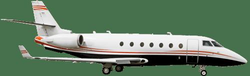 Side profile of Gulfstream 200 G200 aircraft