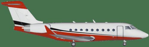 Side profile of Gulfstream 280 G280 aircraft