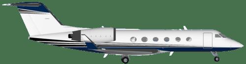 Side profile of Gulfstream G-IV IV aircraft