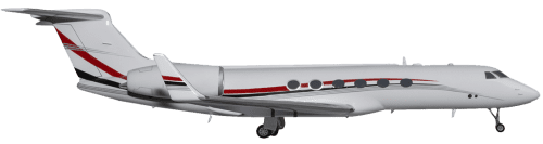 Side profile of Gulfstream G-V V aircraft