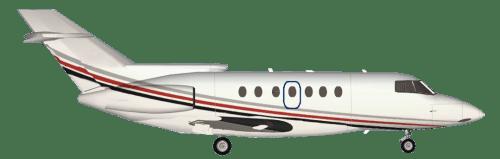 Side profile of Beechcraft 800XP Hawker 800 aircraft