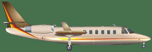 Side profile of Israel Aerospace Industries Westwind II Westwind II aircraft
