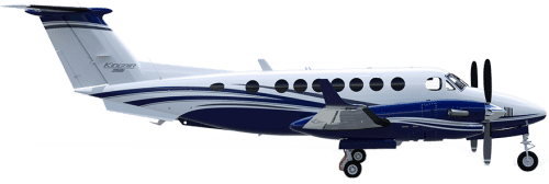 Side profile of Beechcraft 350 King Air 350 aircraft