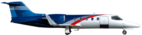 Side profile of Learjet 31A 31 aircraft