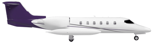 Side profile of Learjet 35A 35 aircraft