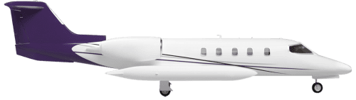 Side profile of Learjet 36 35 aircraft