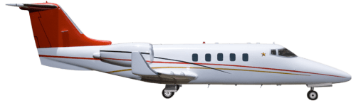 Side profile of Learjet 55 55 aircraft