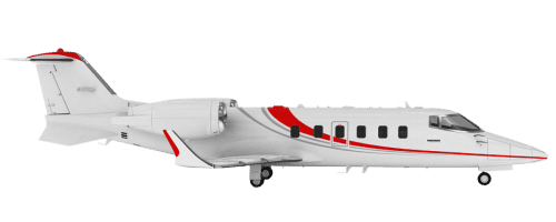 Side profile of Learjet 60 60 aircraft