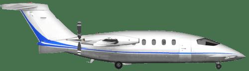 Side profile of Piaggio 180 P.180 aircraft