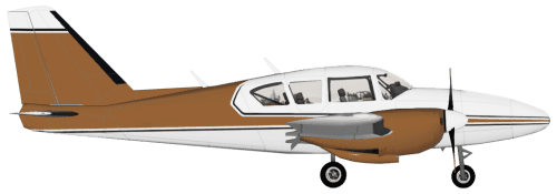 Side profile of Piper PA-23 Aztec aircraft