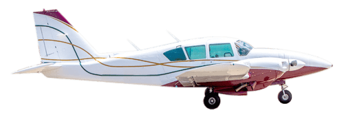 Side profile of Piper PA-23-250 Aztec aircraft