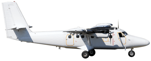 Side profile of De Havilland DHC-6-300 Twin Otter aircraft