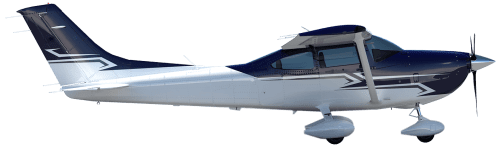 Side profile of Cessna 182 P Skylane aircraft