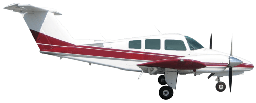 Side profile of Beechcraft 76 Duchess aircraft
