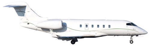 Side profile of Bombardier 300 Challenger 300 aircraft