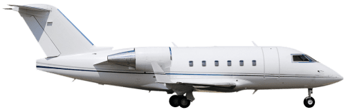 Side profile of Bombardier CL-600-2B16 Challenger 604 aircraft