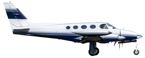 Side profile of Cessna 340 C-340 aircraft