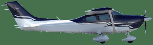 Side profile of Cessna 182 RG Skylane aircraft