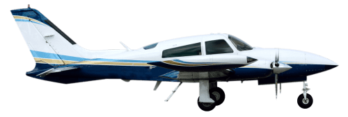 Side profile of Cessna 310 310 aircraft