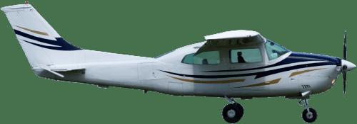 Side profile of Cessna 210 L Centurion aircraft