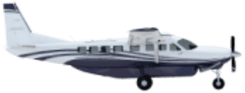 Side profile of Cessna 208 B Caravan aircraft
