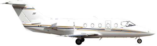 Side profile of Beechcraft 400A 400 aircraft