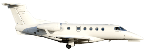 Side profile of Embraer 505 Phenom 300 aircraft