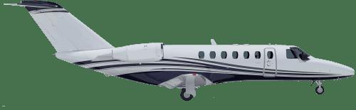 Side profile of Cessna 525B CitationJet CJ3 aircraft