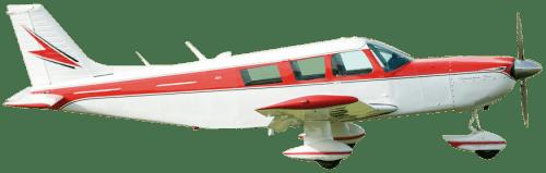 Side profile of Piper PA-32-300 Cherokee Six aircraft