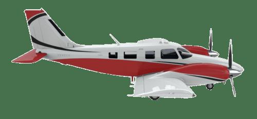 Side profile of Piper PA-34-220T Seneca Turbo aircraft