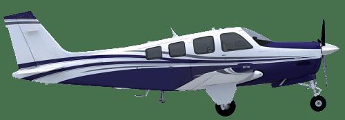 Side profile of Beechcraft F33 Bonanza aircraft