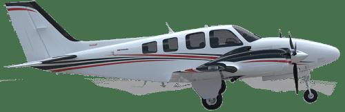 Side profile of Beechcraft Baron 58 Baron aircraft