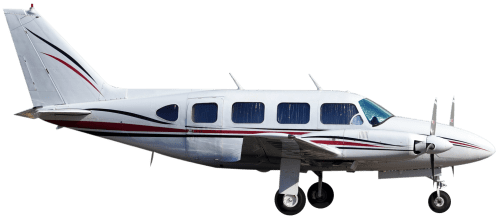 Side profile of Piper 31T Cheyenne aircraft
