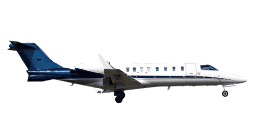 Side profile of Learjet 45 45 aircraft