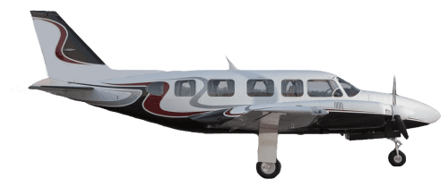 Side profile of Piper PA-31-350 Chieftain aircraft