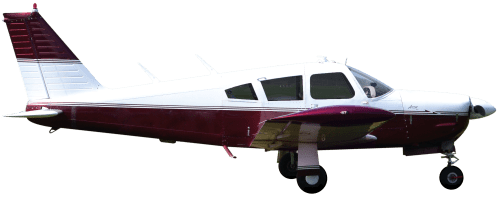 Side profile of Piper PA-28R-200 Arrow II aircraft