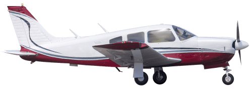 Side profile of Piper PA-32-300T Cherokee Six aircraft