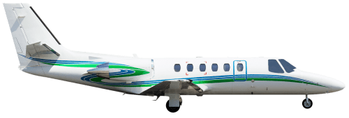 Side profile of Cessna 550 Citation Bravo aircraft