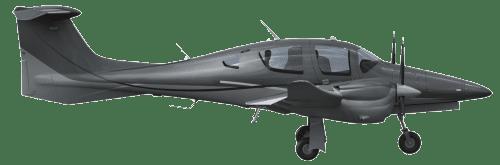 Side profile of Diamond DA62 DA62 aircraft