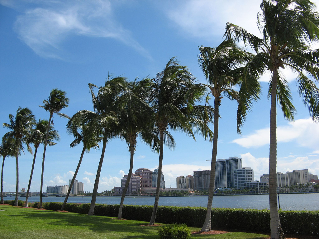 Hero photograph of Palm Beach Int. PBI in West Palm Beach FL
