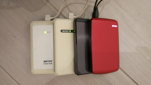 4 USB HDDs